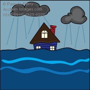 house clipart flooding