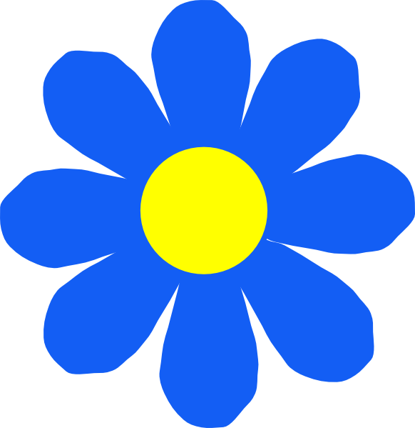 Blue flower clip art. Clipart roses animated