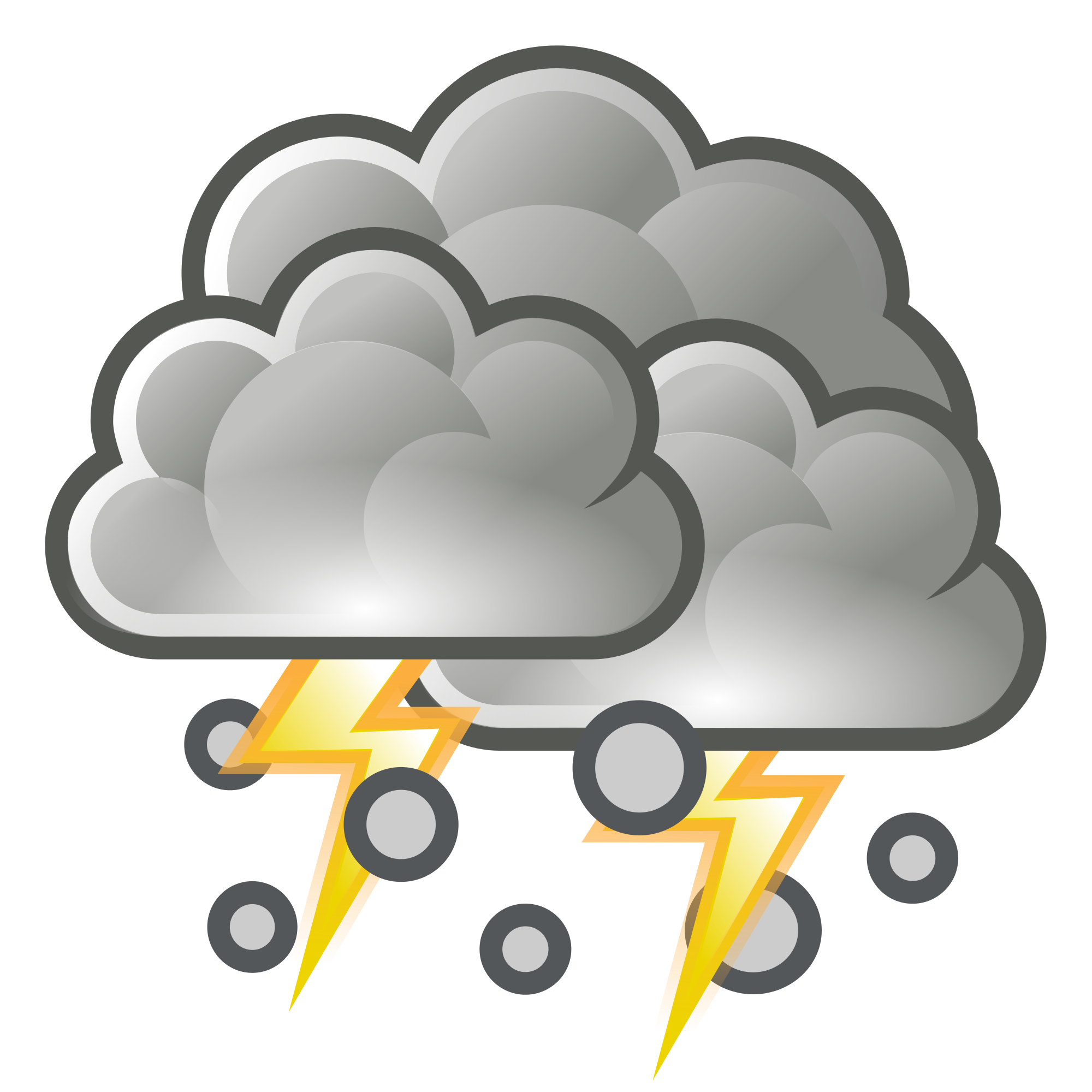 collection of storm. Clipart rain hail