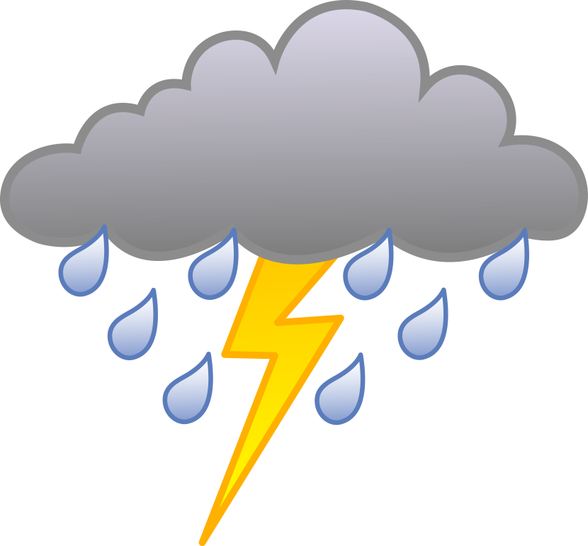 collection of cloud. Lightning clipart thundercloud