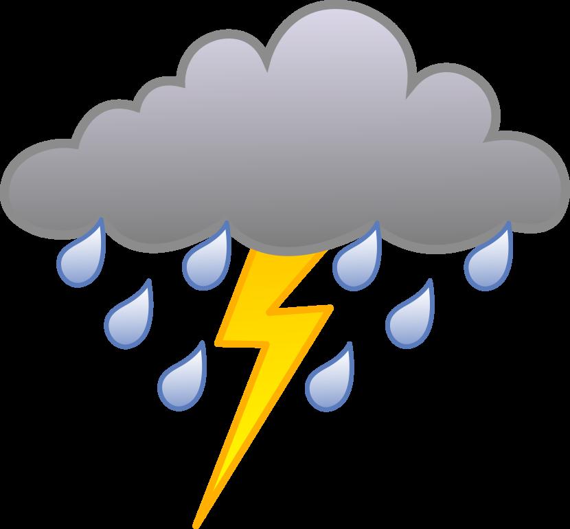 Rain lightning