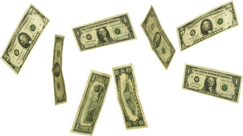 Falling free images toppng. Raining money png