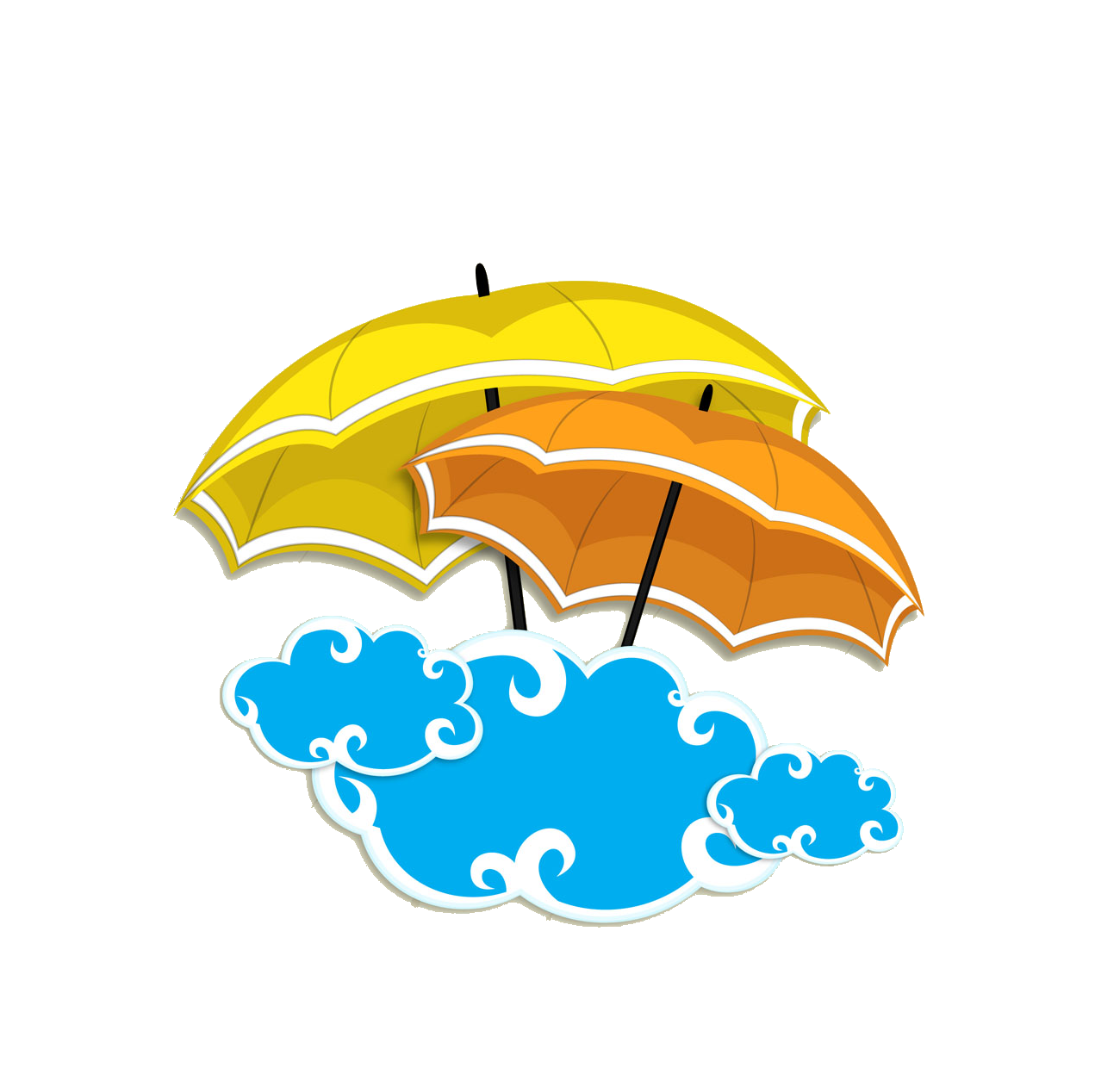 Orange clipart clouds. Rain monsoon clip art