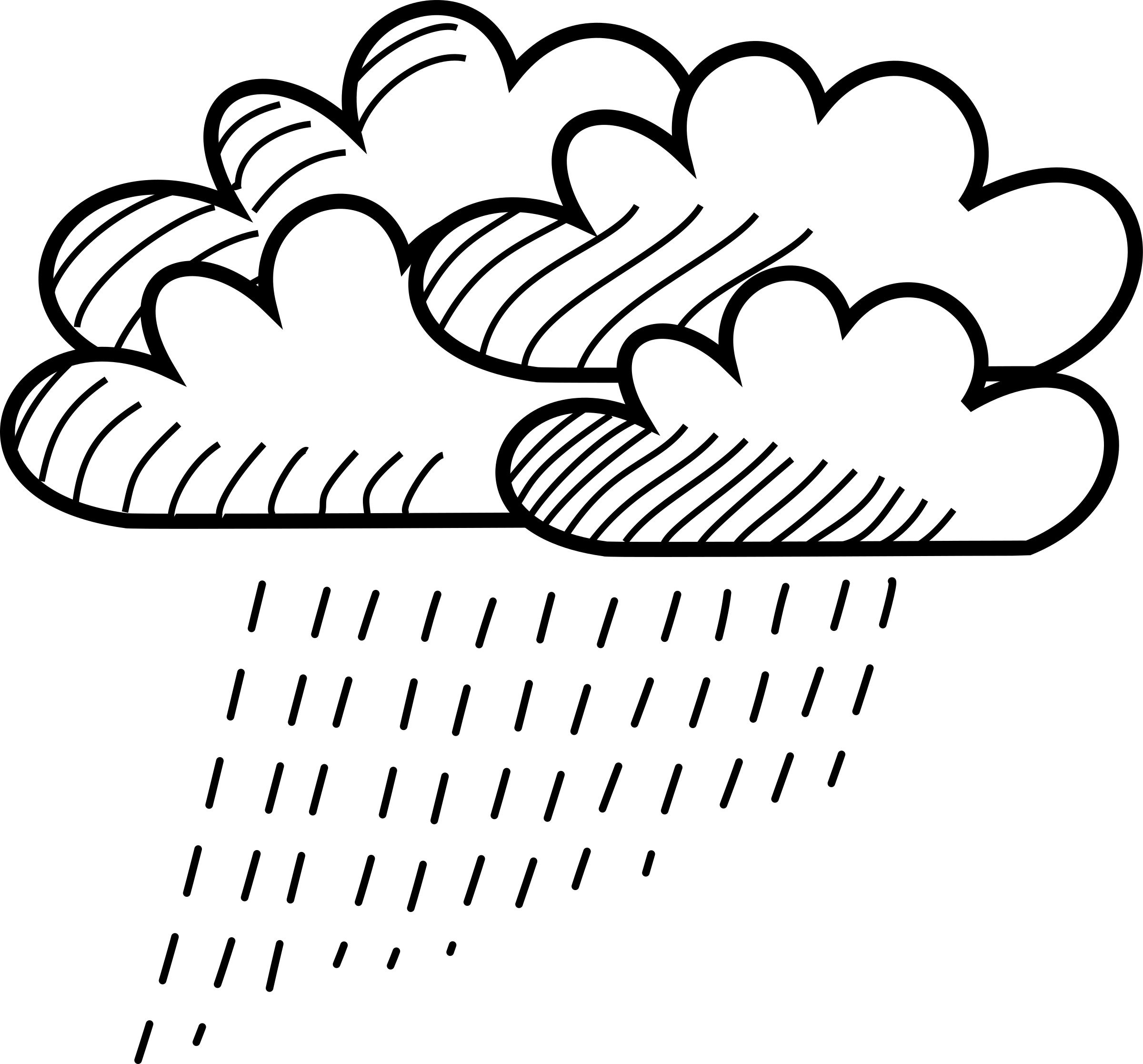 Stick figure cloud cluster. Wednesday clipart rainy