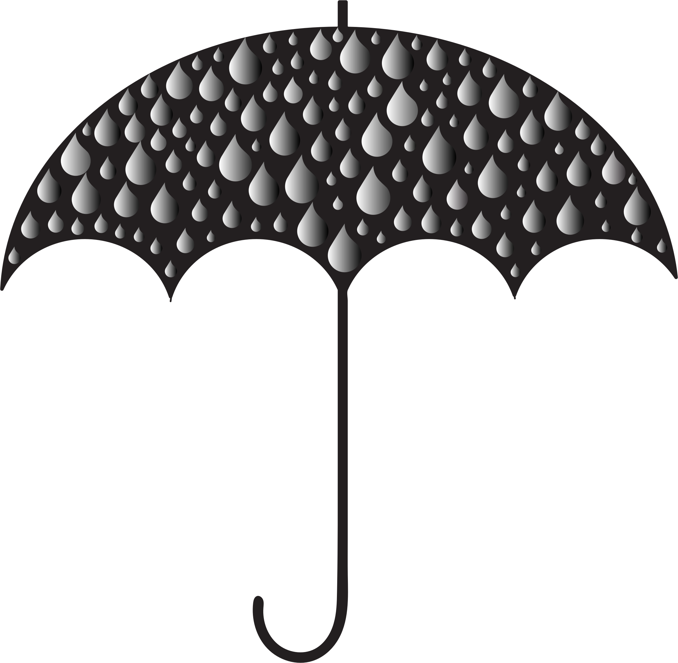 Clipart umbrella rainy clothes. Prismatic rain drops silhouette