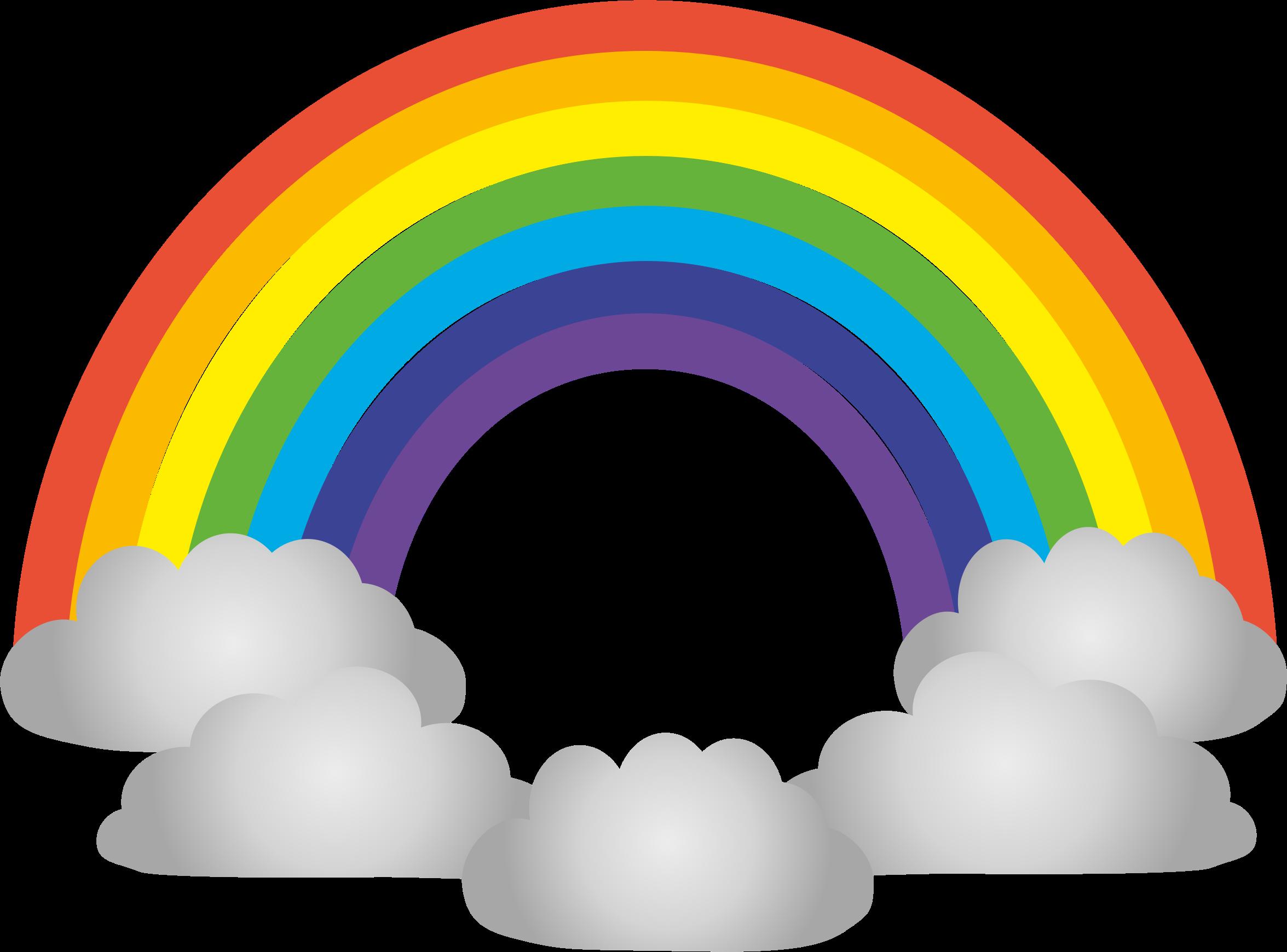 . Clipart rainbow rain