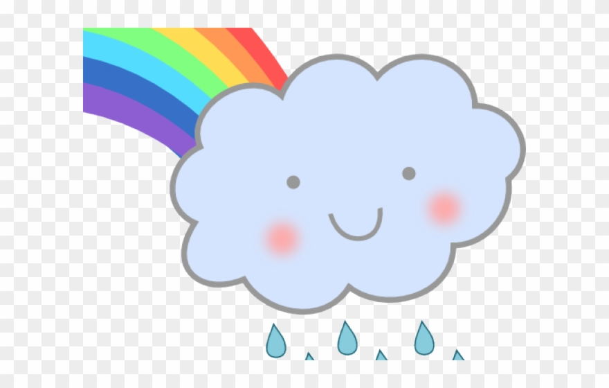 Clipart rainbow rain. Cloud png download