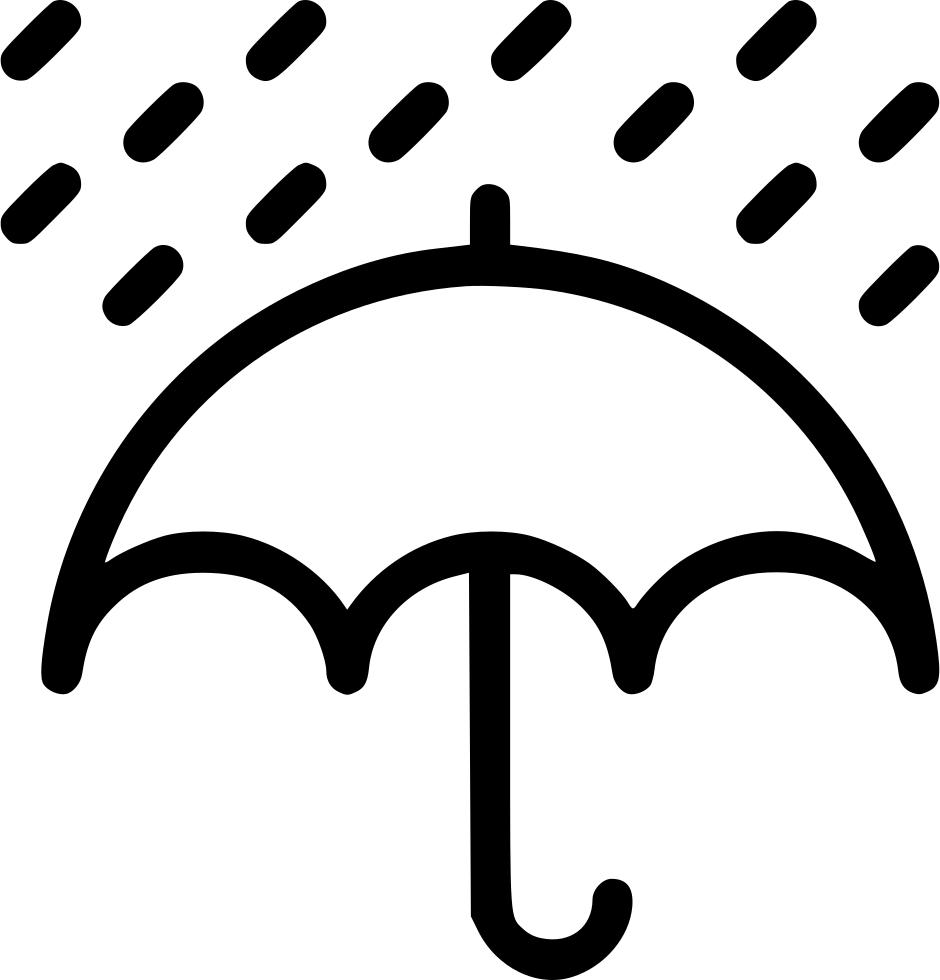 Rain rainfall umbrella svg. Sunny clipart weather philippine