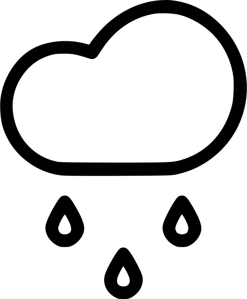 Cloud drizzle weather svg. Clipart rain rainfall