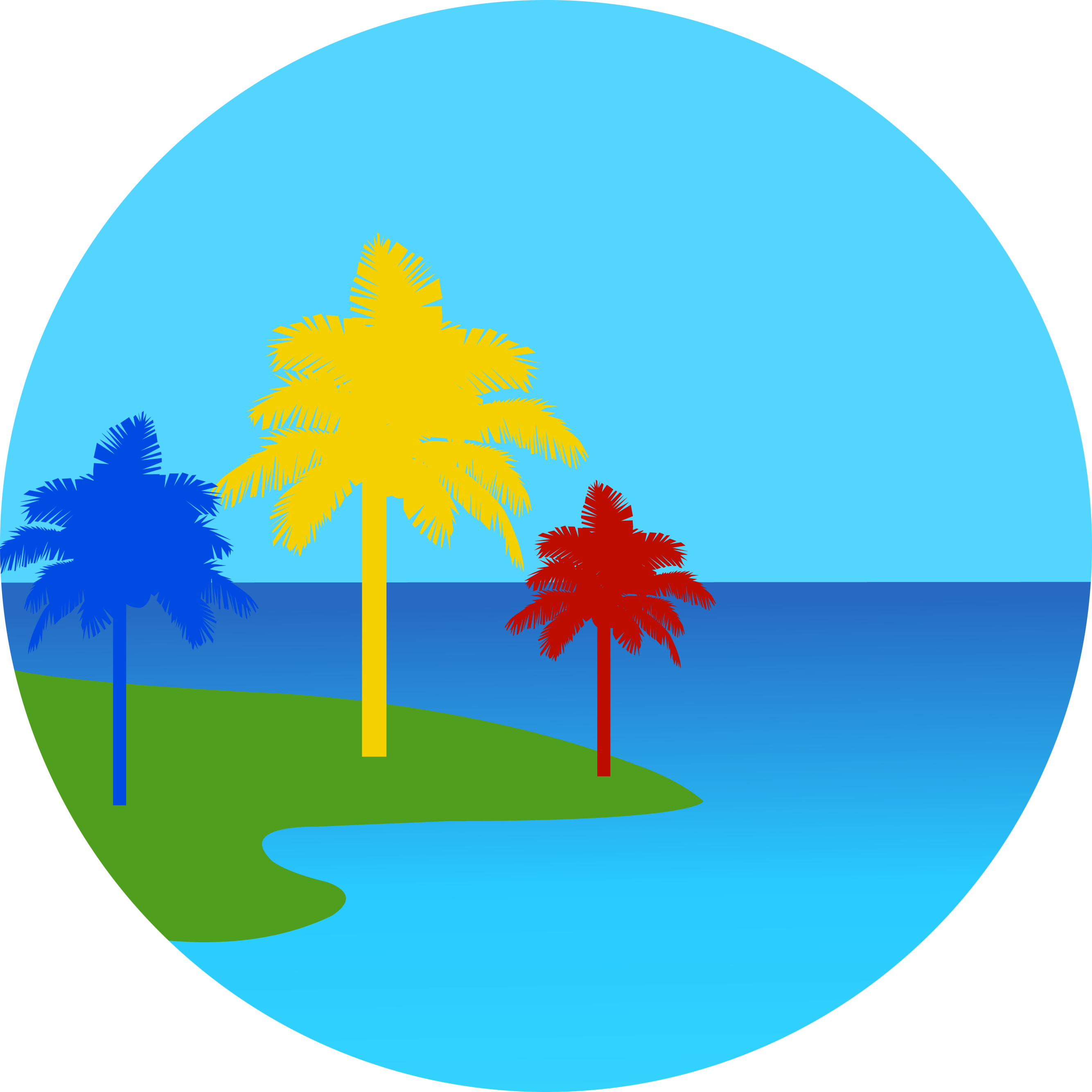 Painted trees of hawaii. Clipart walking nature walk
