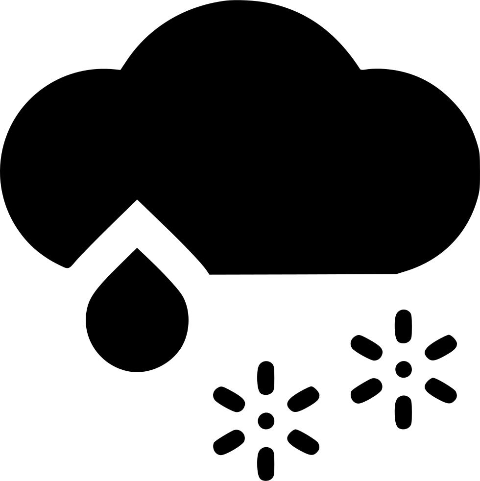Cloud wintry svg png. Clipart rain snow mix