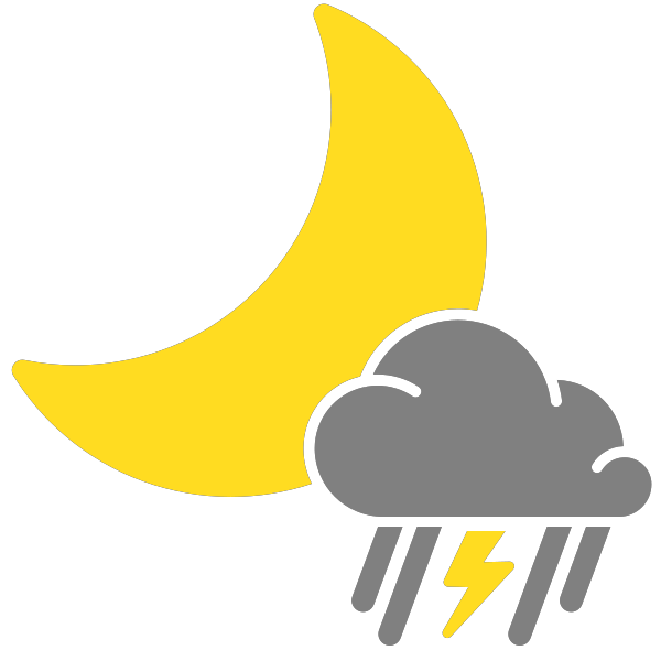 Simple icons mixed rain. Thunderstorm clipart thunderstorm weather