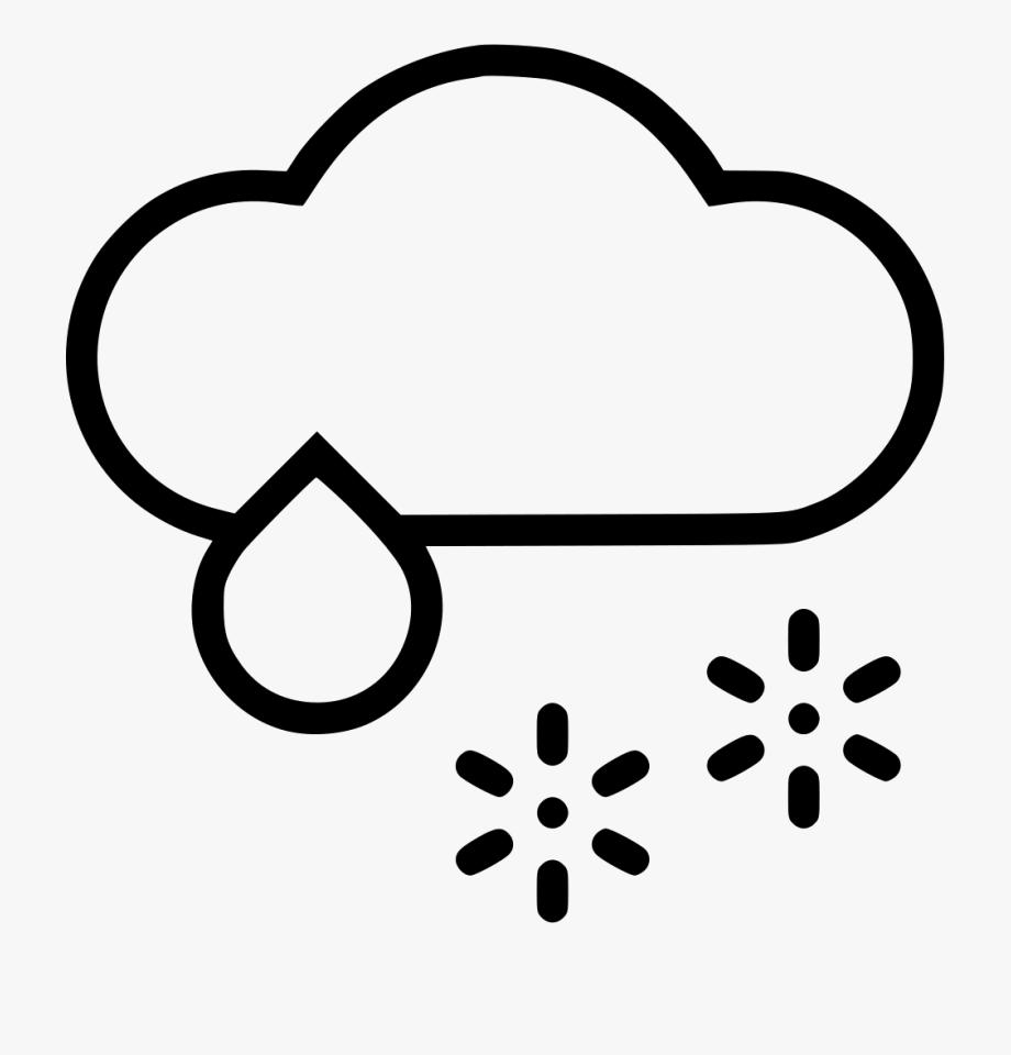 Clipart rain snow mix. And icon free