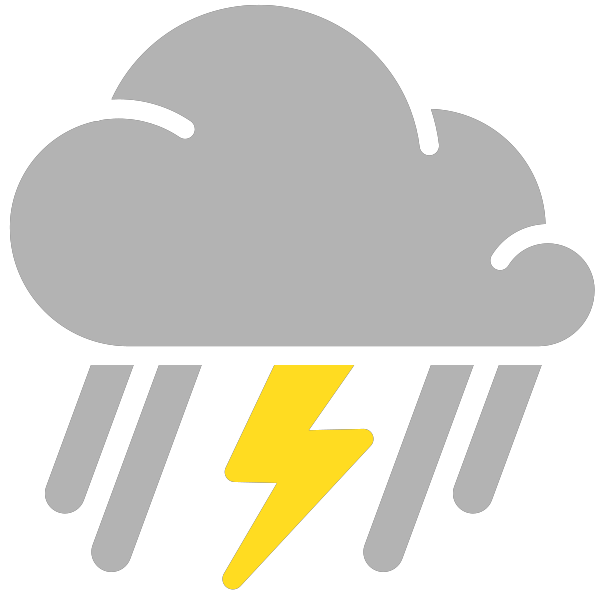 Simple weather icons mixed. Showering clipart scattered thunderstorm