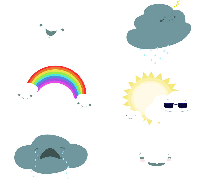 Weather forecasting clip art. Clipart rain snow mix