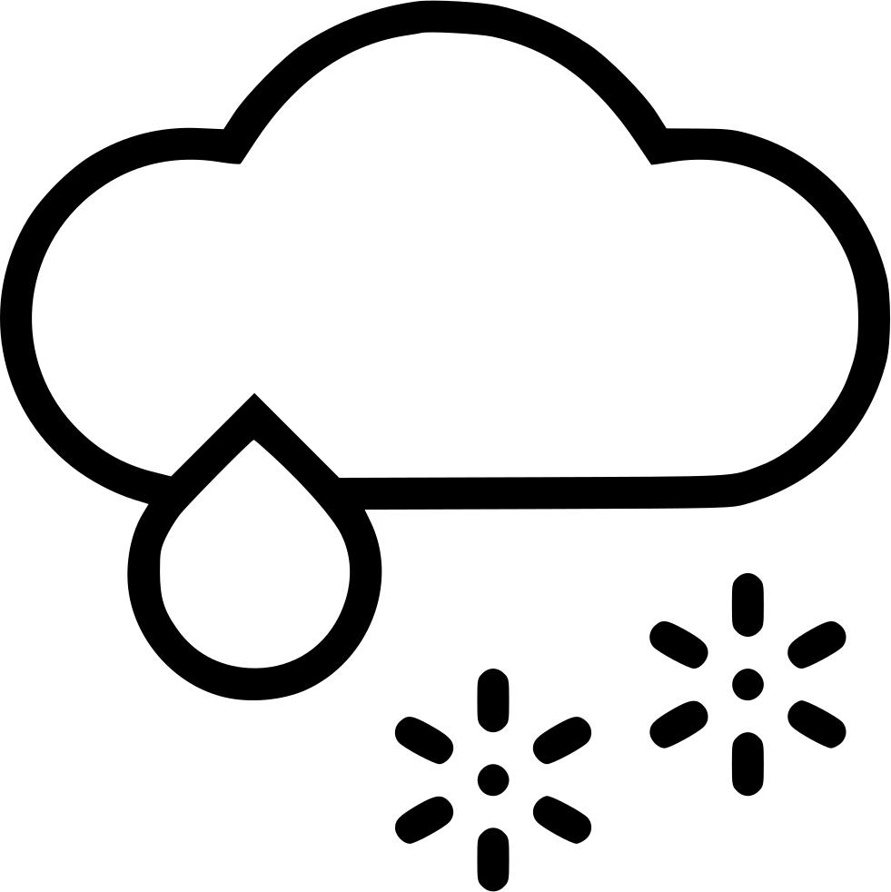 Clipart rain snow mix. Cloud wintry svg png