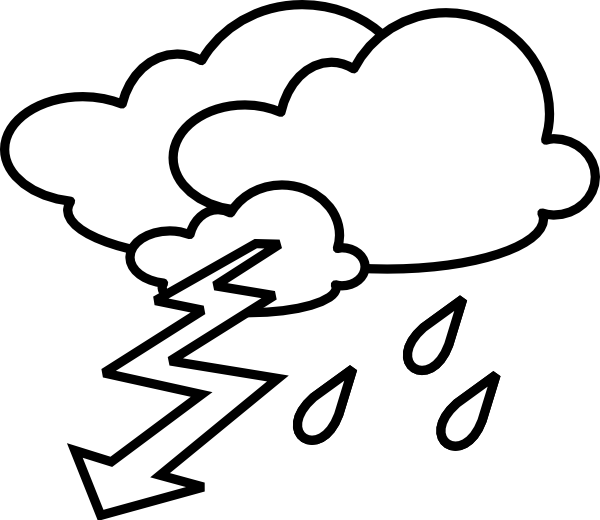 Outline clip art at. Windy clipart stormy day