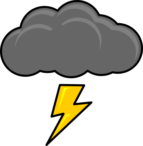 Cloud with lightning gallery. Clipart rain stormy