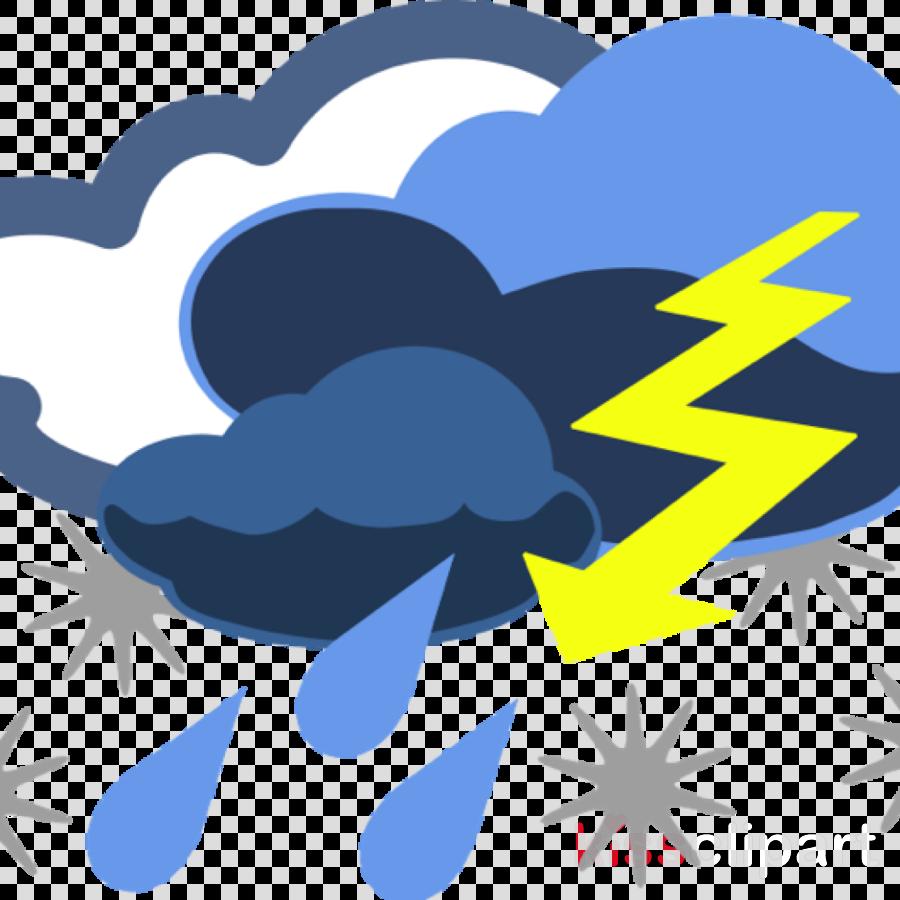 Cloud thunderstorm . Clipart rain stormy