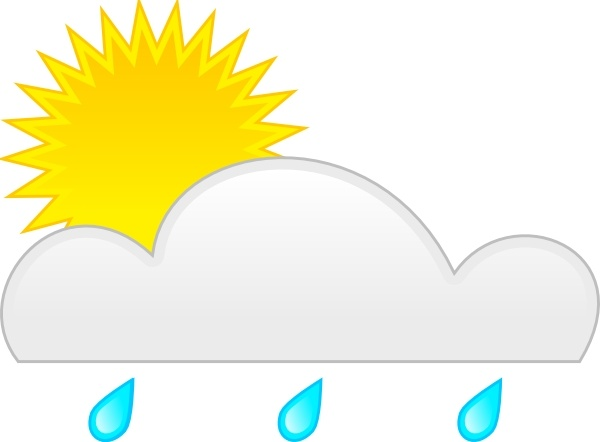 Clip art free vector. Clipart rain sun