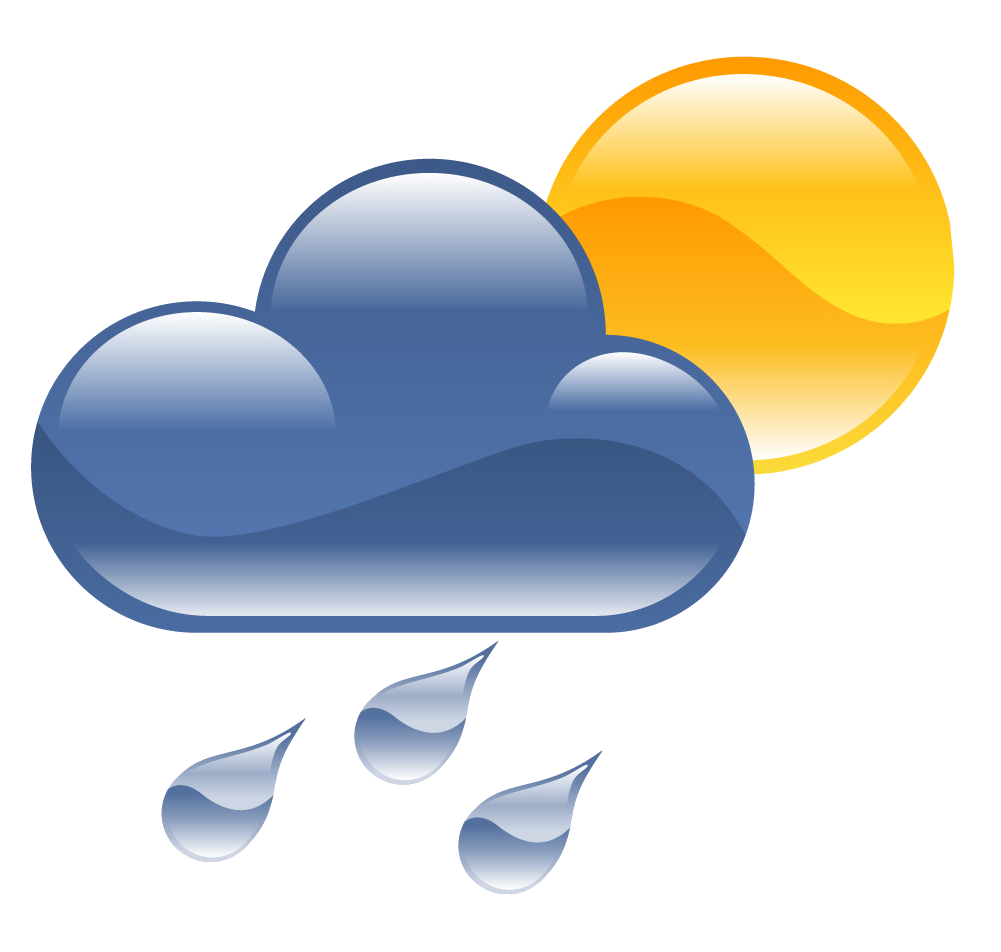 collection of and. Clipart rain sun