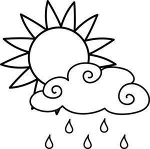 Clipart rain sun. Clip art black and