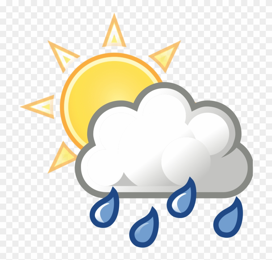 Cloudy clipart partly cloudy. Rain mostly with showers