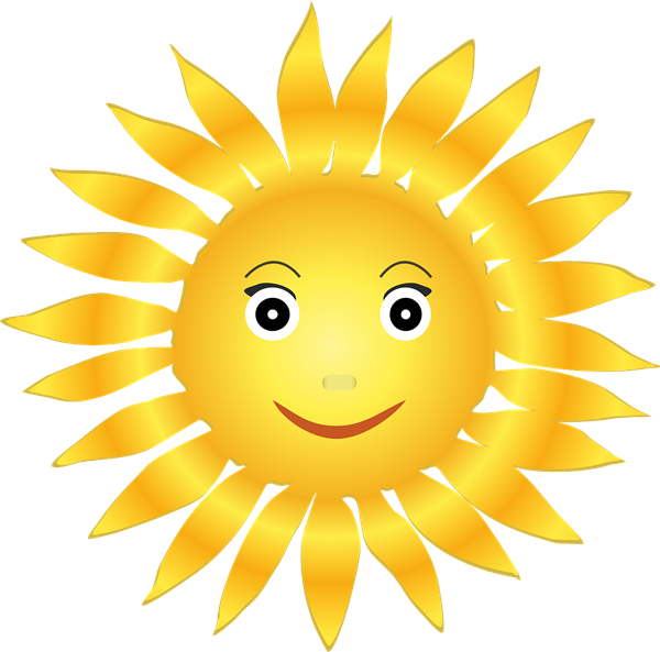 Clipart sunshine symbol. Free cliparts smiley download