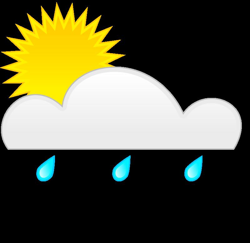 Weather symbols clip art. Clipart rain sunshine