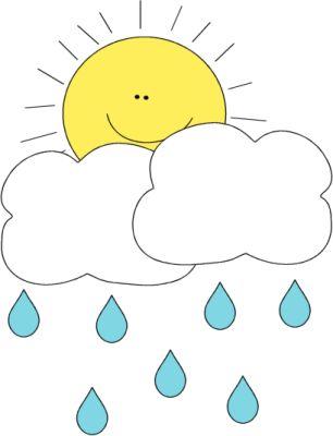 Sun behind cloud clip. Clipart rain sunshine