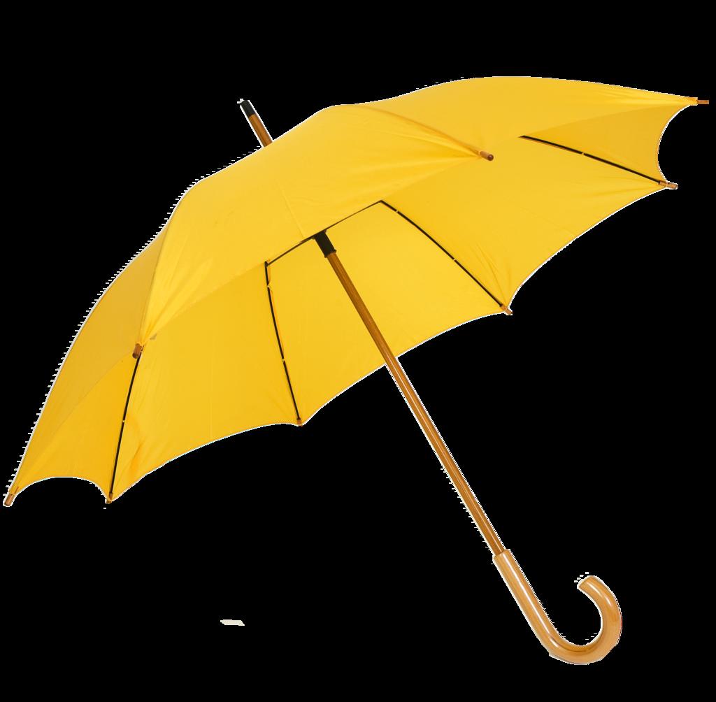 Corporate gift promotional yellow. Clipart rain umbrella