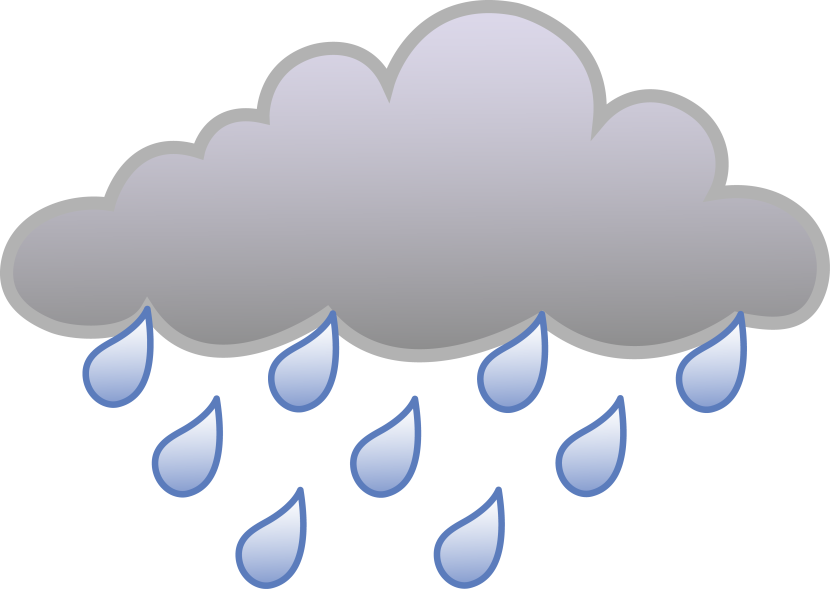 collection of clouds. Clipart rain water