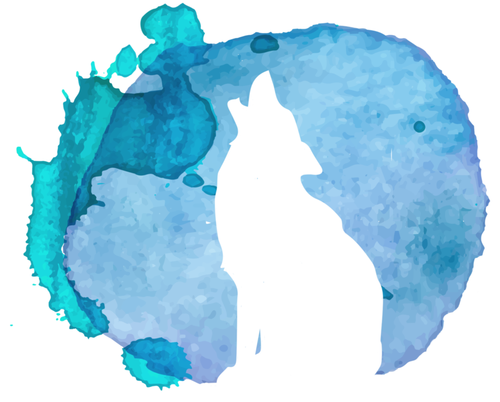 Clipart rain watercolor. Wolf by aewin on