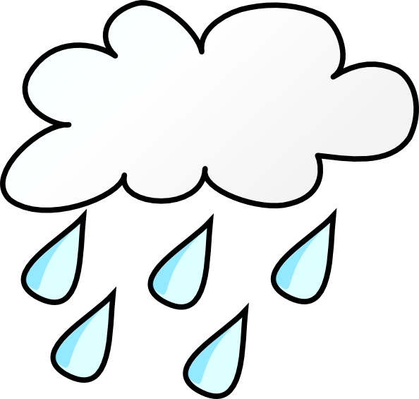 Clip art free vector. Sunny clipart rainy weather