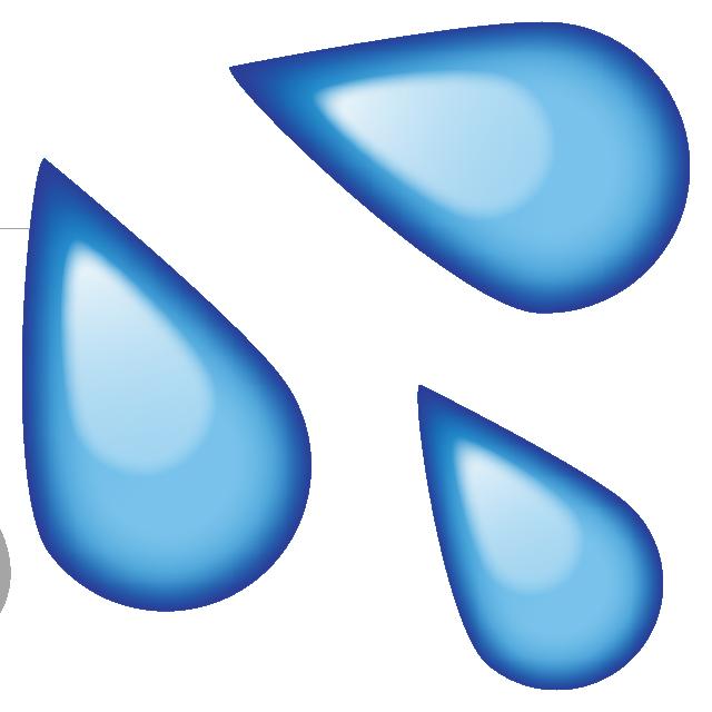 Image sweat water emoji. Net clipart wet