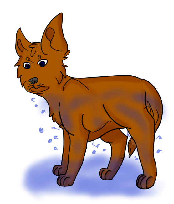 Dog by rainbyfolf on. Wet clipart net