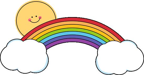 Clip art images sun. Clipart rainbow