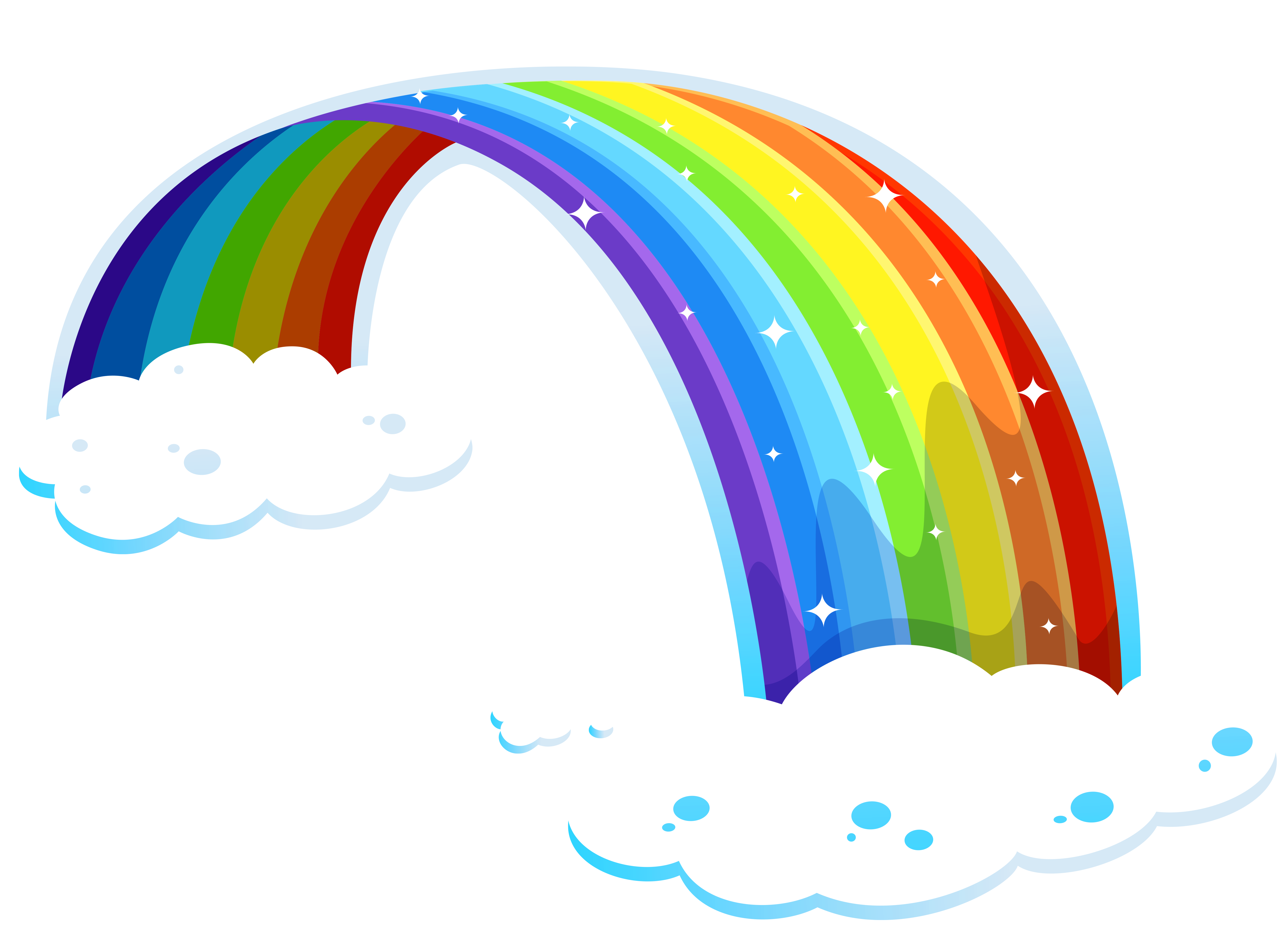Glitter clipart rainbow. With clouds png gallery
