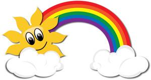 Clipart rainbow. Clip art panda free