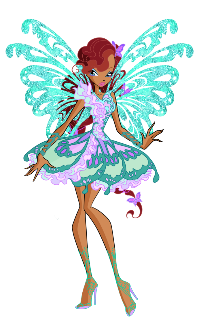 Fairy clipart clothes. Aisha butterflix d by
