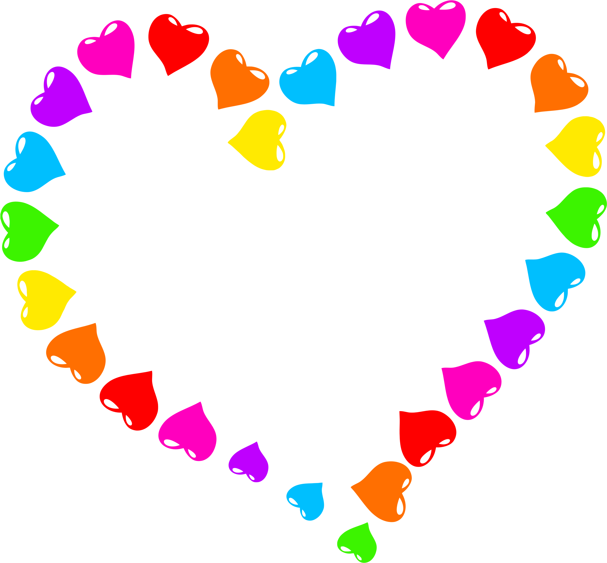 Rainbow hearts png. Clipart heart big image