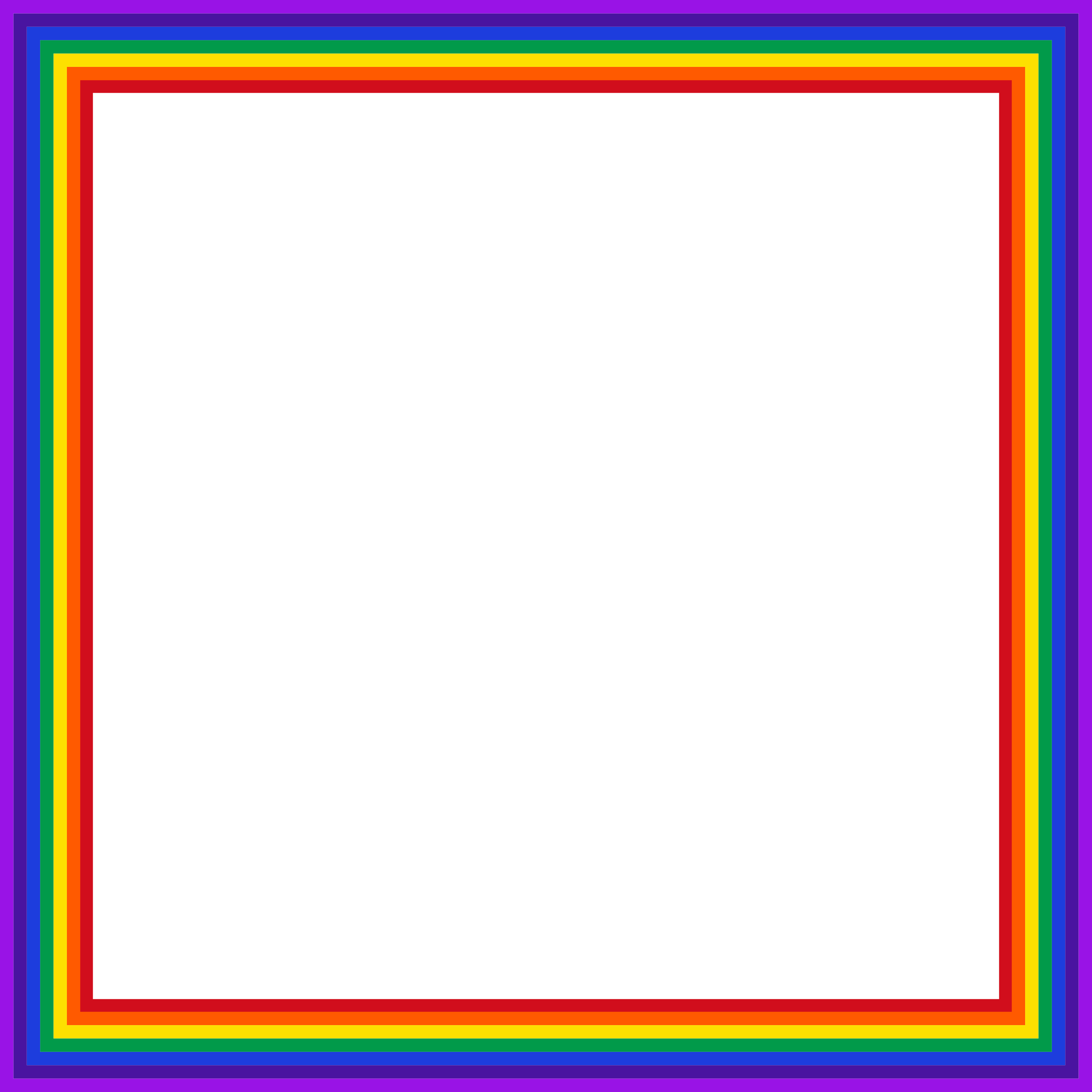 Clipart square big image. Rainbow frame png