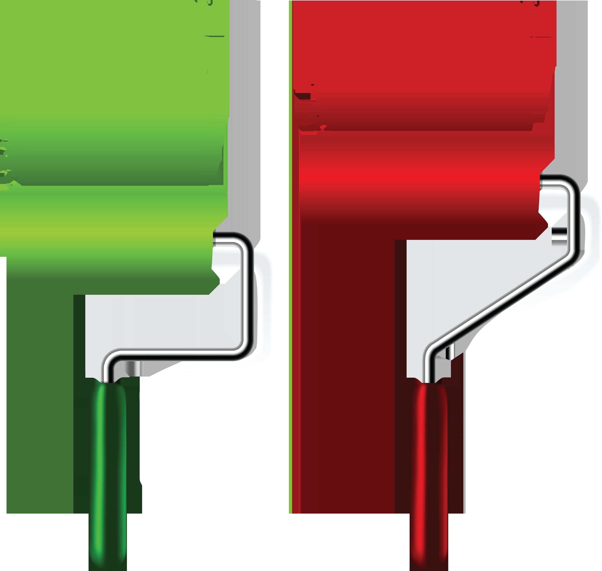 Paint roller logo panda. Paintbrush clipart wall