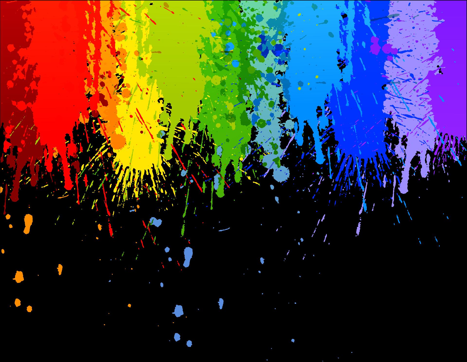 Colour splash drip transparent. Clipart rainbow brush stroke