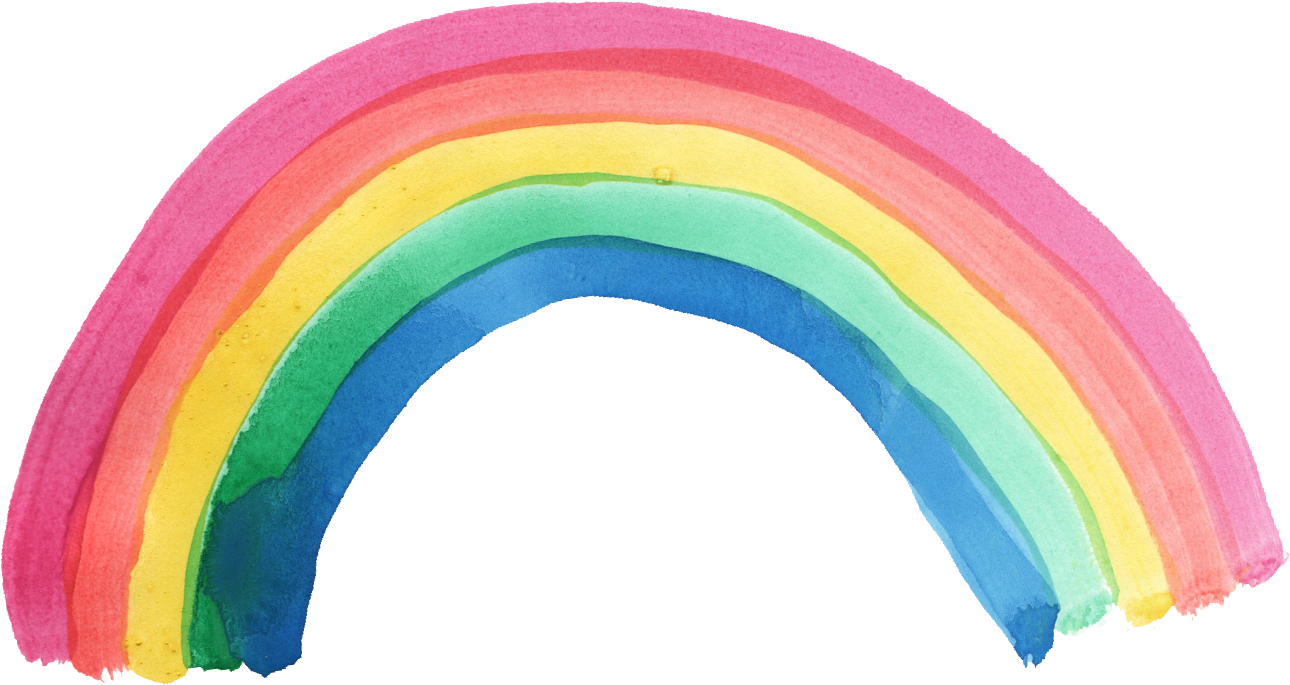 Rainbow vector png.  watercolor transparent onlygfx
