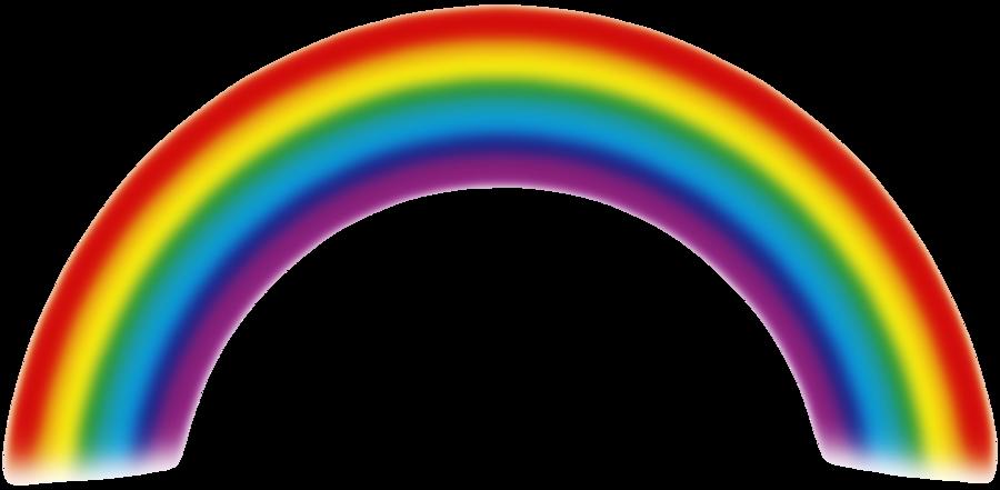 tea clipart rainbow