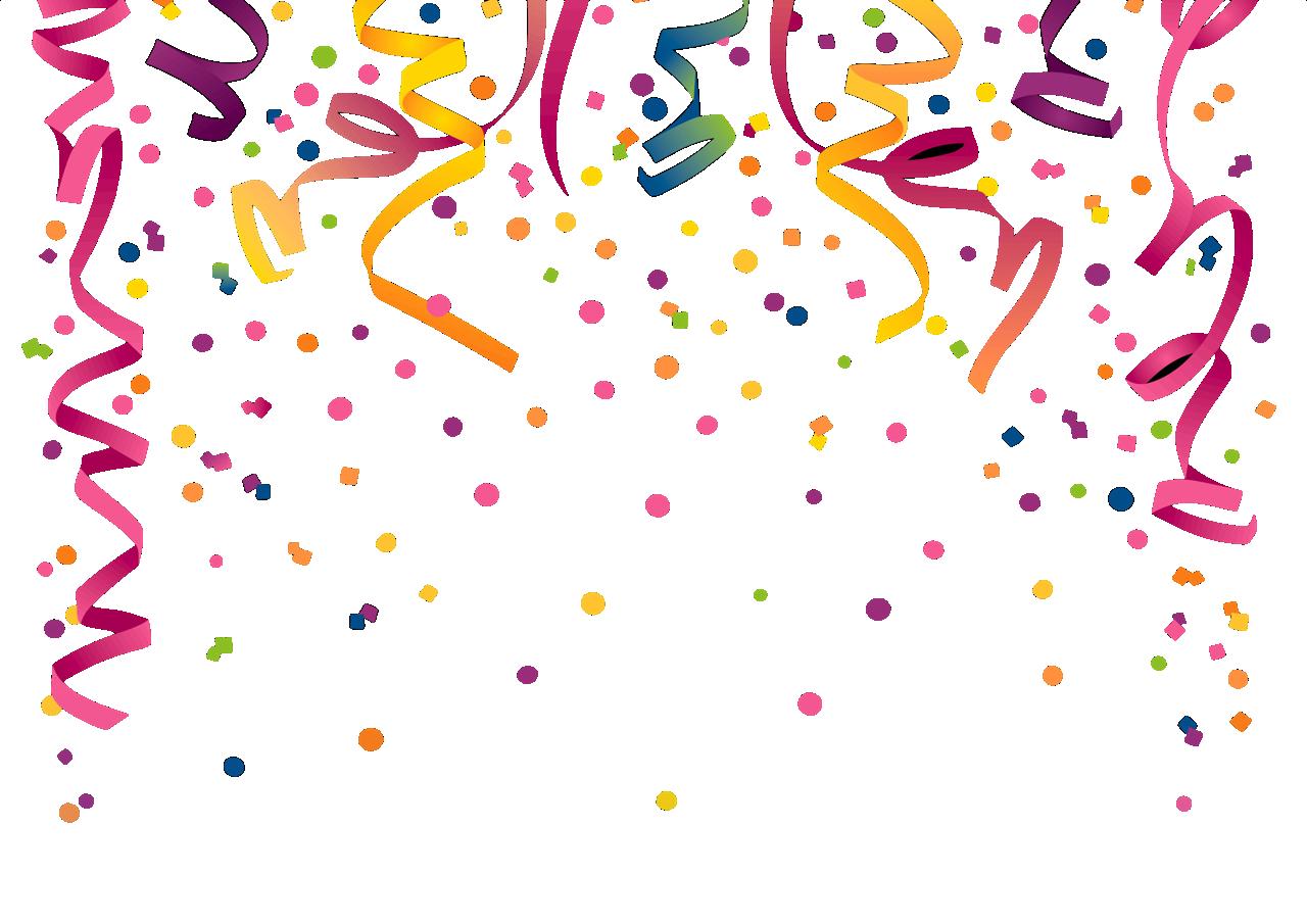 confetti clipart multicolor