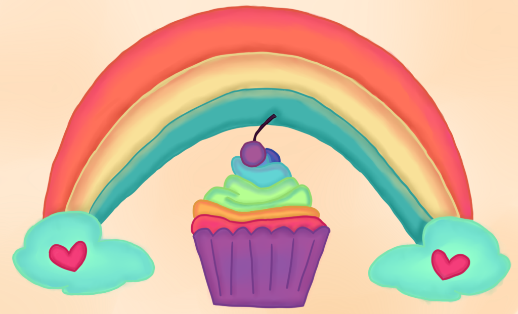 Cupcakes rainbow cupcake