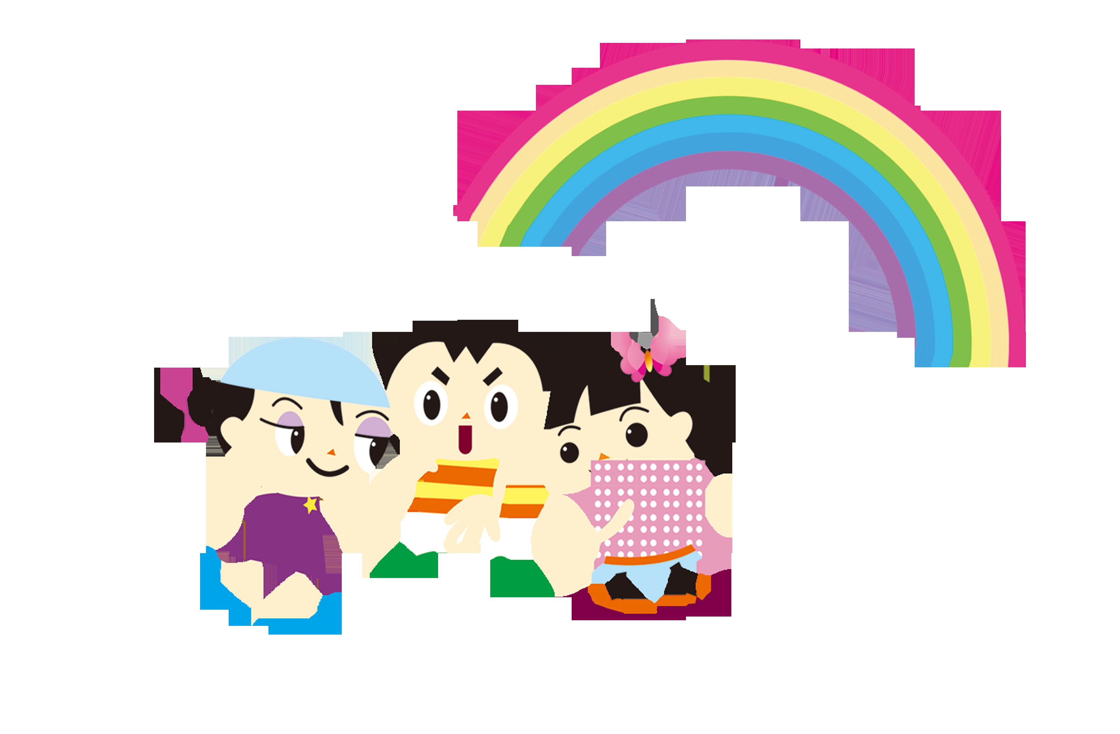 Donut clipart rainbow. Childrens day clip art