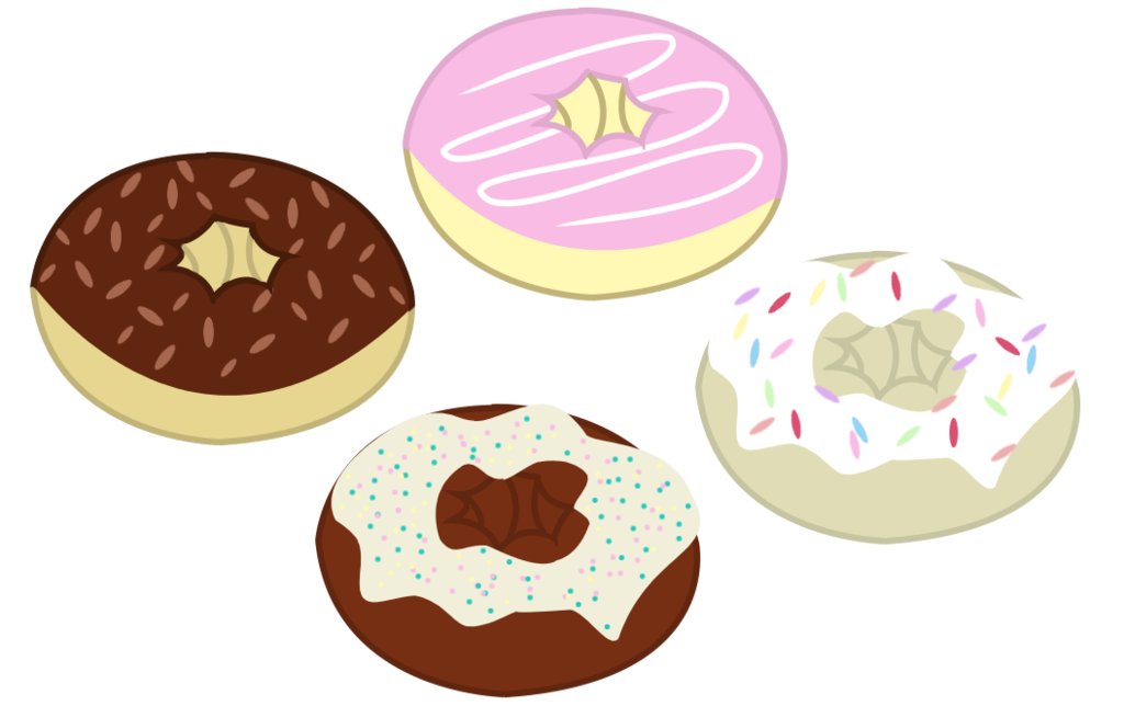 Donuts clipart vector. Mlp resource by frenchyunicorn